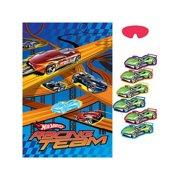"amscan hot wheels speed city 37-1/2"" x 24-1/2"" party game"