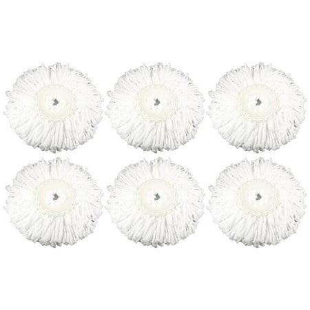 6 Replacement Microfiber Mop Head Refill For Hurricane Magic Mop 360 Spin Felji