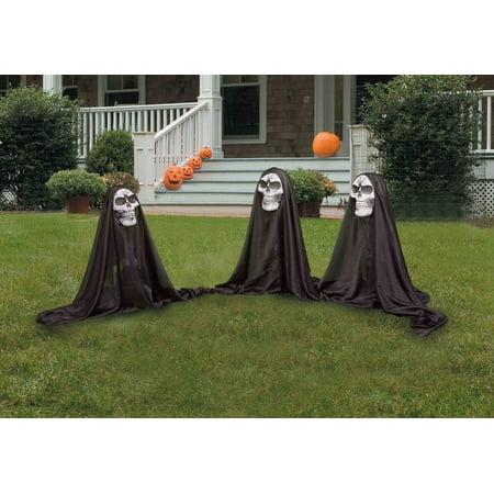 grim reaper group outdoor halloween prop decoration set of 3
