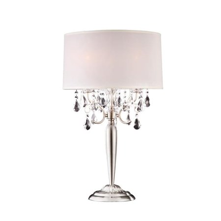 Ore Furniture K-5109T 29.5 in. Crystal Silver Table Lamp - image 1 of 1