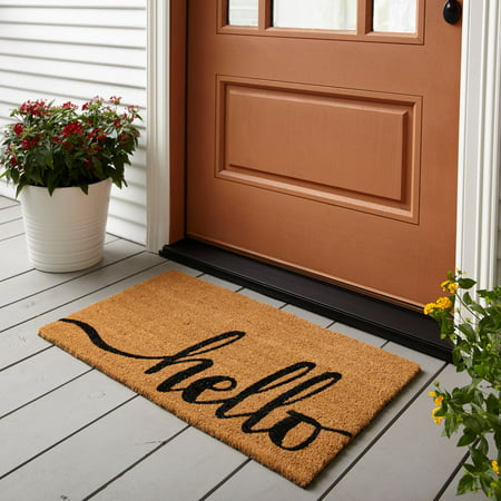 "Mainstays 18"" x 30"" Hello Coir Outdoor Mat, 1 Each"
