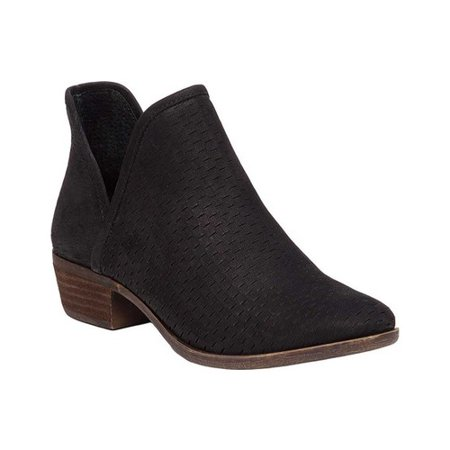 8d7df0eed70 Womens Lucky Brand Baley Pull On Ankle Boots, Black