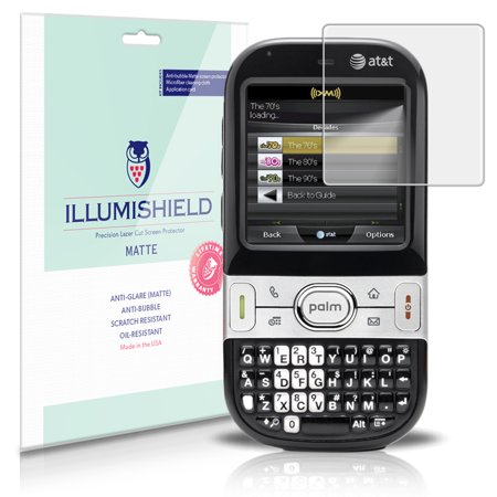 iLLumiShield Matte Screen Protector w Anti-Glare/Print 3x for Palm Centro -