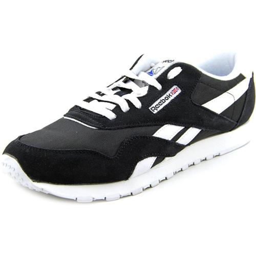 Reebok Classic Nylon Running Shoe Black White Womens by Reebok