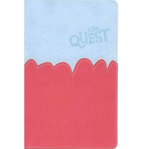 Kids' Quest Study Bible: New International Reader's Version Light Blue / Hot Pink Italian Duo-Tone
