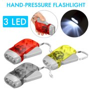 1PCS Hand Flashlight Emergency Rechargeable LED Flashlight Immediate Torch Light for Camping Outdoor Sports