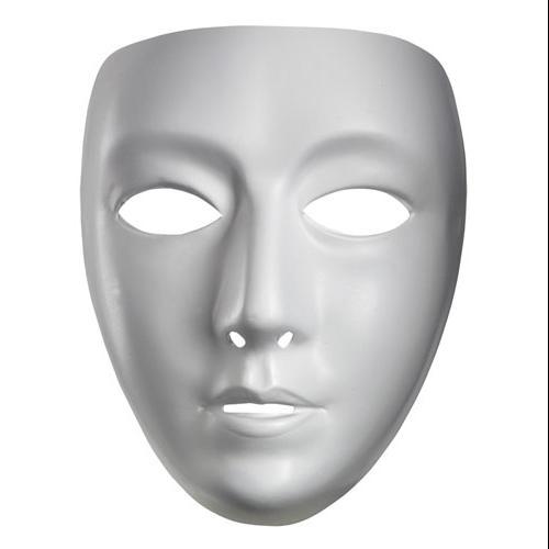 White Blank Female Mask for Halloween Costume