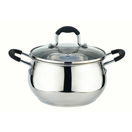 Kitchen Sense Stainless Steel Sauce Pot with Vented Lid Burnt Stainless Steel Pot