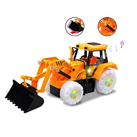 Electric Bulldozer Bump & Go Construction Building Tractor with Lights & Sound Electric Bulldozer Truck Vehicle Toy for Boys Ages 3+ Yrs