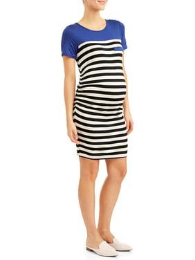 91f9bcec Product Image Maternity Stripe Body Con Midi Dress. Planet Motherhood