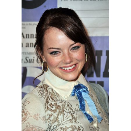 Emma Stone At Arrivals For Limited-Edition Anna Sui For Target Gossip Girl Collection Launch Party Soho New York Ny September 9 2009 Photo By Gregorio T BinuyaEverett Collection Photo Print