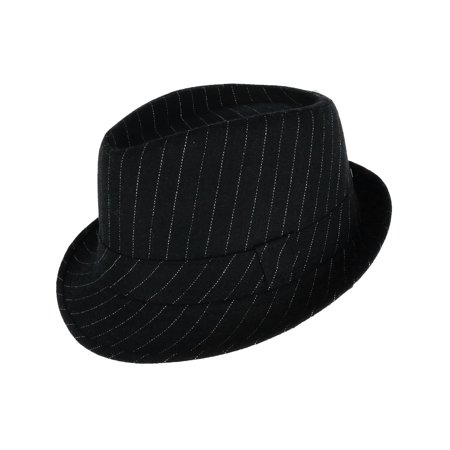 Westend - Men s Pinstriped Trilby Fedora Hat with Matching Band -  Walmart.com e30aded7aef7