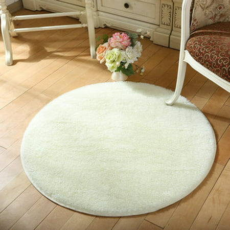 NK Rug Luxury Round Area Rugs Fluffy Rugs Fashion Color Anti-slip Nursery Rug Suitable for Living Room Bedroom Girls Room Mat Pink Grey Blue ()