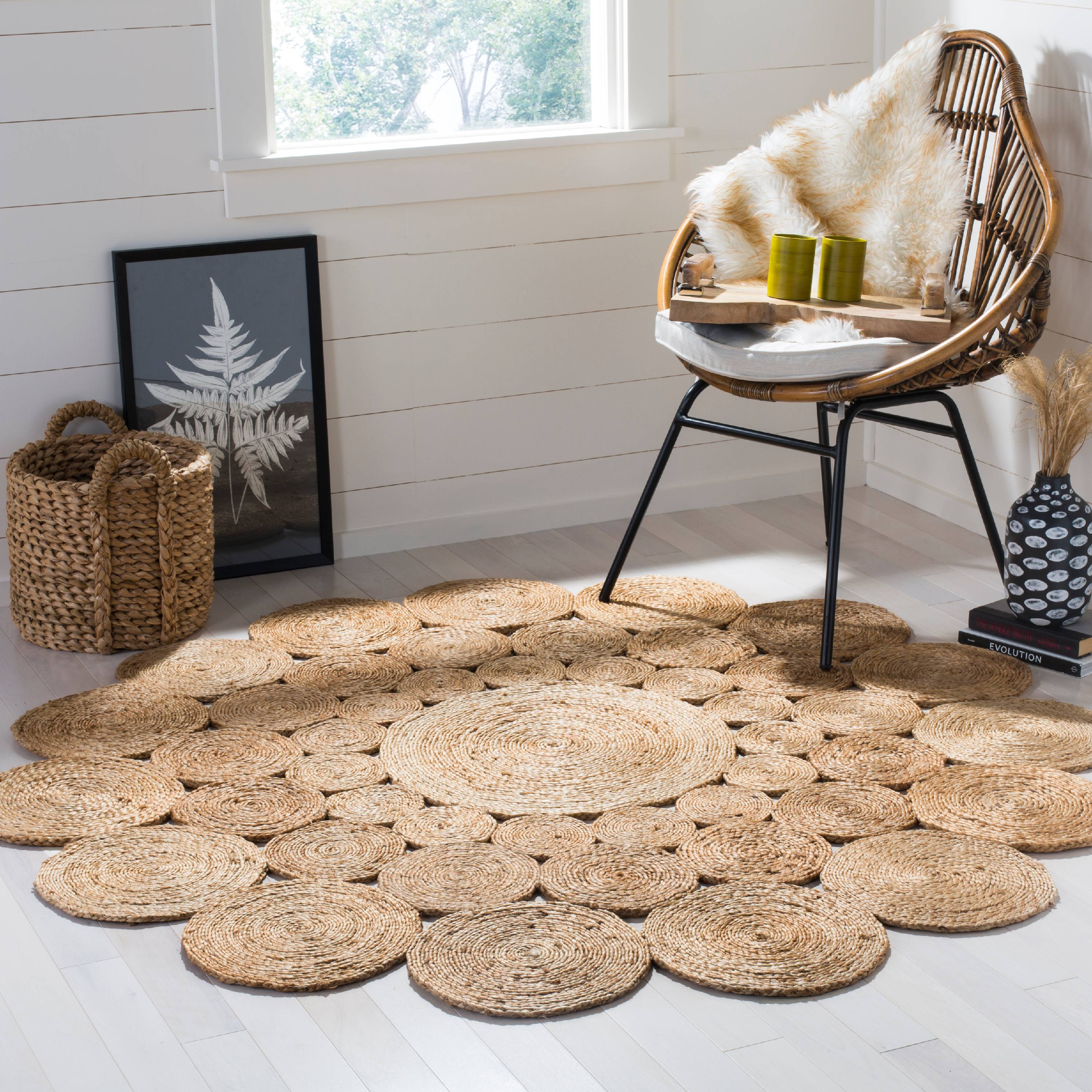 Safavieh Natural Fiber Christian Geometric Circle Braided Area Rug