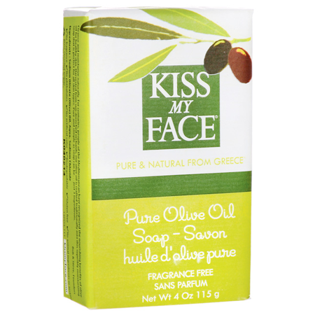 Kiss My Face Bar Soap Pure Olive Oil Fragrance Free 4 Ounce