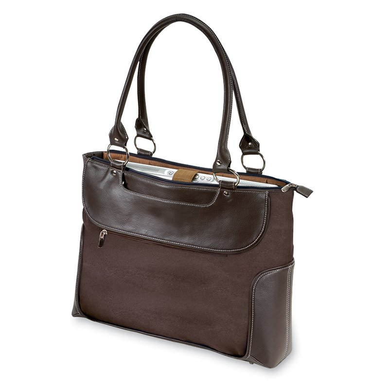 Travelers Choice G Pacific Venetian 17.5 in. Ladies Business Zip-Top Casual Laptop Tote Bag