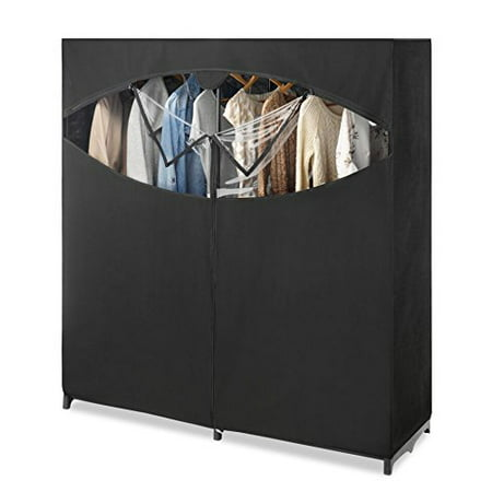 Whitmor Black Extra Wide Clothes Closet - Zippered Front