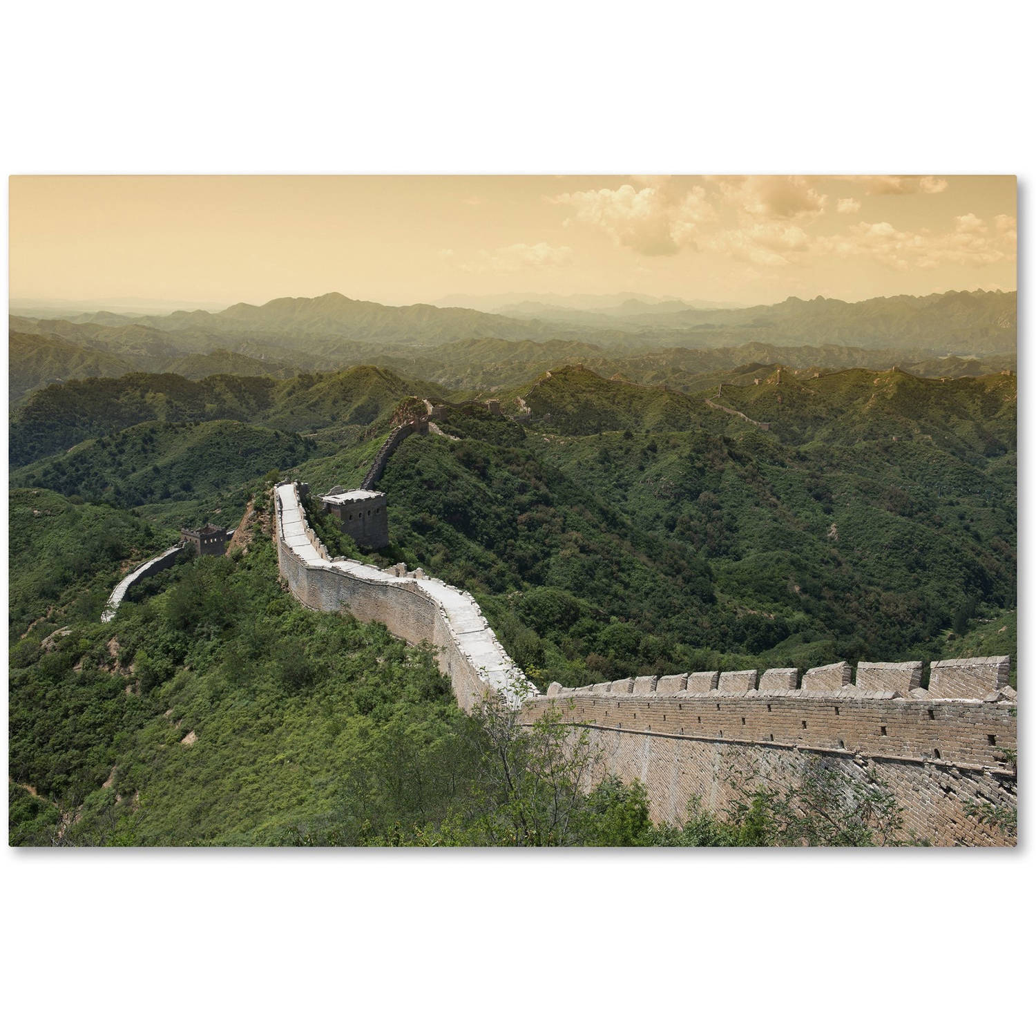 "Trademark Fine Art ""Great Wall IV"" Canvas Art by Philippe Hugonnard"