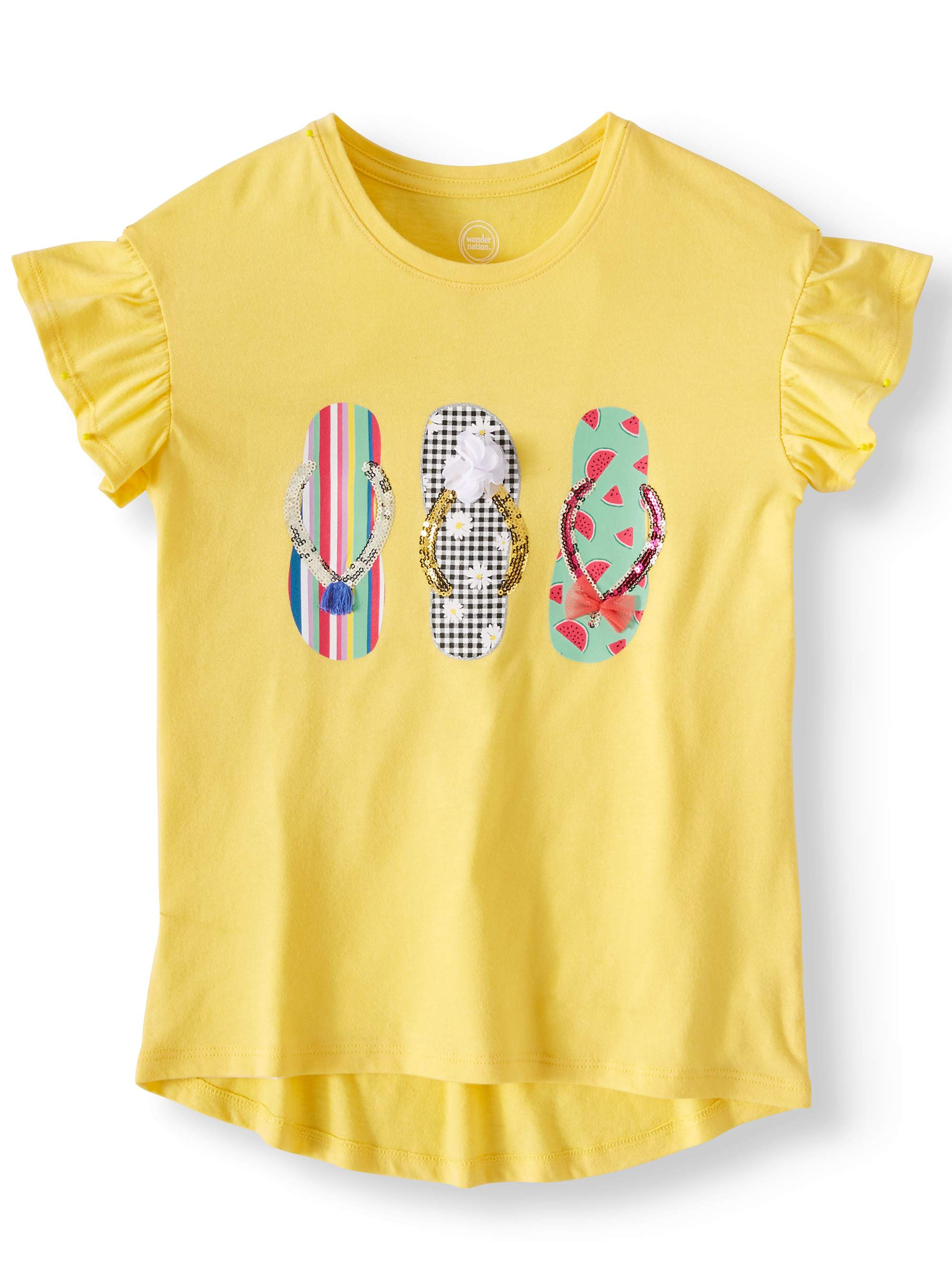 Short Sleeve Embellished Tee (Little Girls, Big Girls, & Plus)