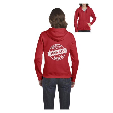 Hawaiian Family Gift Made in Hawaii Women's Full-Zip Hooded Sweatshirt