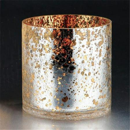 Diamond Star 57106 6 x 6 in. Glass Vase, Silver