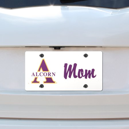 Alcorn State Braves Mom Plastic License Plate - No Size