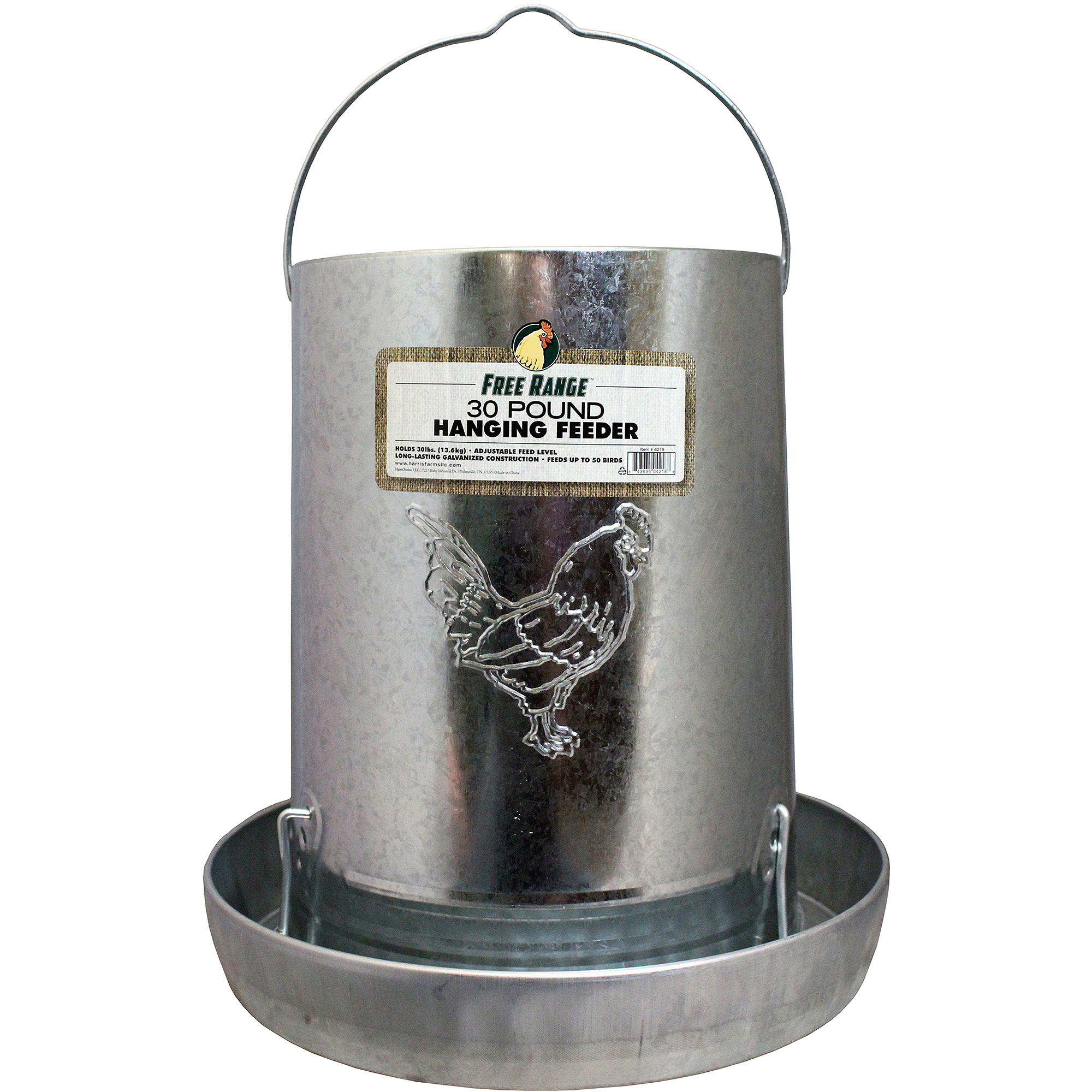 Harris Farms Llc Pet 4218 30-lb Hanging Metal Poultry Feeder
