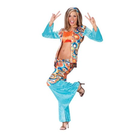 Groovy Hippie Women's Adult Halloween Costume Size Medium/Large (10-14) #1050 - Halloween Hippie Costume