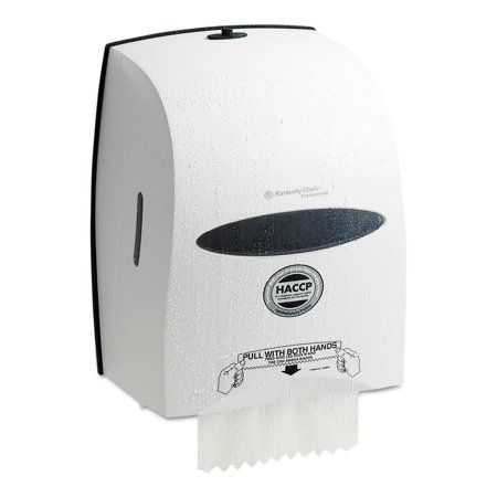 Kimberly-Clark Professional* Windows Sanitouch Roll Towel Dispenser, 12 63/100w x 10 1/5d x 16 13/100h, White