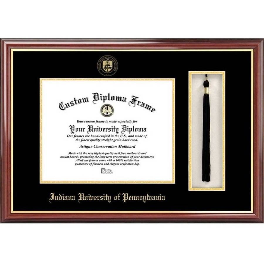 "Indiana University, PA 8.5"" x 11"" Tassel Box and Diploma Frame"