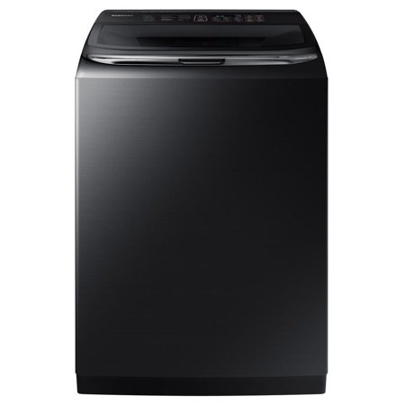Samsung WA54M8750AV - Washing machine - freestanding - Wi-Fi - width: 27 in - depth: 29.3 in - height: 42.4 in - top loading - 5.4 cu. ft - 800 rpm - black stainless steel