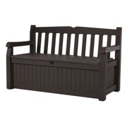 Keter Eden Outdoor Resin Storage Bench All Weather Plastic Seating And 70