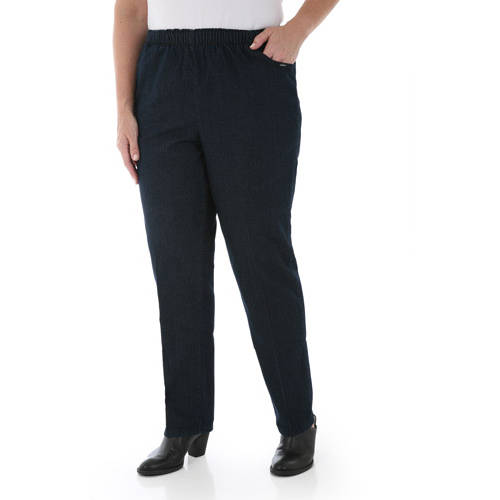 Chic Women's Plus-Size Stretch Pull-On Jeans, Available in Regular ...