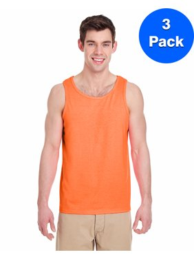 Mens Heavy Cotton Tank Top 3 Pack