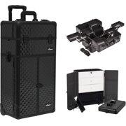 Sunrise I3666DMAB Black Dmnd Trolley Makeup Case - I3666