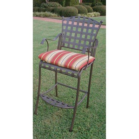 Blazing Needles Outdoor 20 X 17 In Bistro Chair Cushion Set Of 2 Walmart