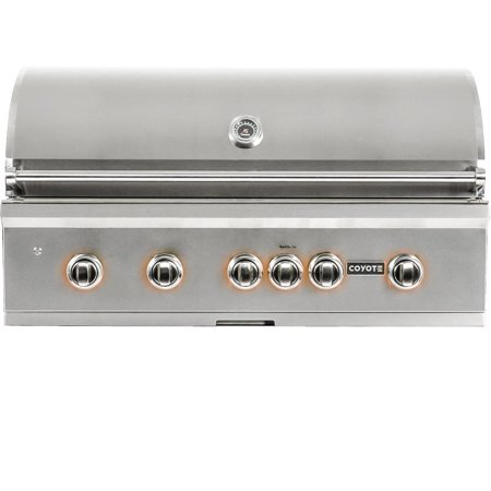 Coyote S-series 42-inch 5-burner Built-in Natural Gas Grill With Rapidsear Infrared Burner & Rotisserie 42' Rcs Gas Grill