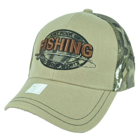 Just hook up fishing outdoor sports fish camouflage camo for Fishing hats walmart