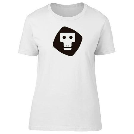 Cool Monkey Head Doodle Tee Women