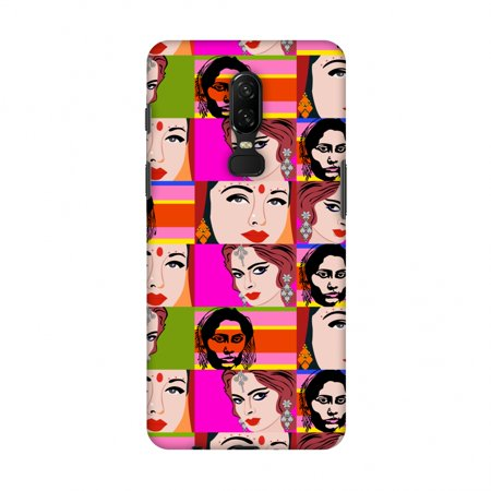 OnePlus 6 Case - Quirky Bollywood- Pop pink, Hard Plastic Back Cover, Slim Profile Cute Printed Designer Snap on Case with Screen Cleaning Kit