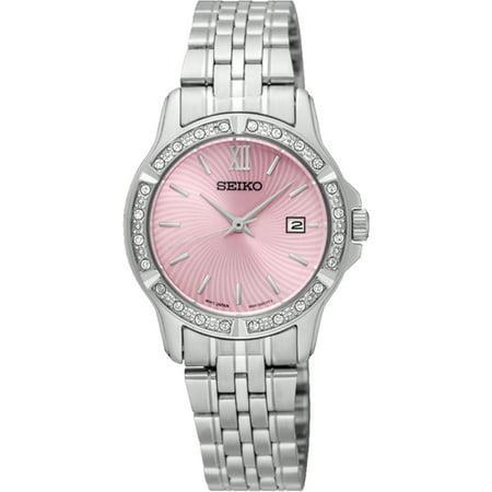 SUR739P1,Ladies dress,Pink dial,Stainless Steel Case and bracelet,Hardlex Crystal,date,30m WR,SUR739 ()