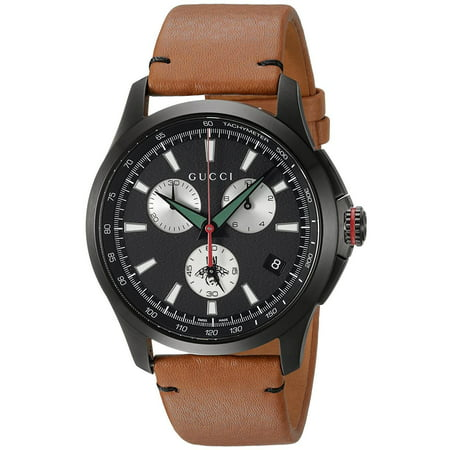 G-Timeless Leather Chronograph Mens Watch