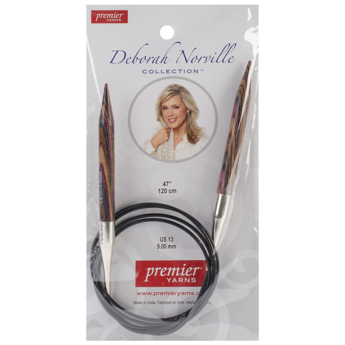 Premier Yarns Deborah Norville Fixed Circular Needles, 47-Inch, 13/9.0mm Multi-Colored