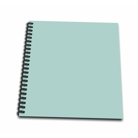 3dRose Plain mint blue - solid color - light turquoise-grey-gray - modern contemporary simple pastel teal - Memory Book, 12 by - Mint Blue Color