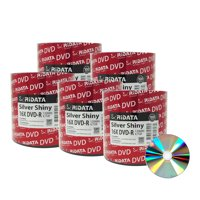 500 Pack Ridata DVD-R 16X 4.7GB 120 Min Silver Shiny Top Blank Data Video Media Recordable Disc
