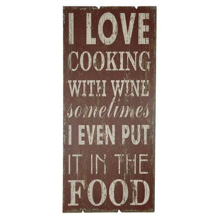 Fleur De Lis Living I Love Cooking with Wine Sometimes Wall D cor