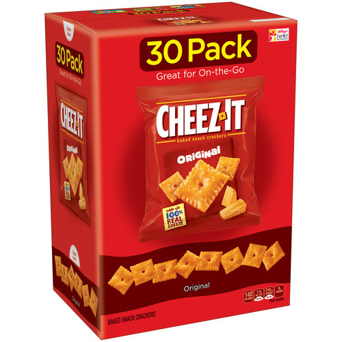 Cheez-It Original Baked Snack Crackers, 1 oz, 30 ct