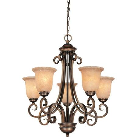 Dolan Designs 2090 English Bronze Medici 5 Light (Medici 5 Light Chandelier)
