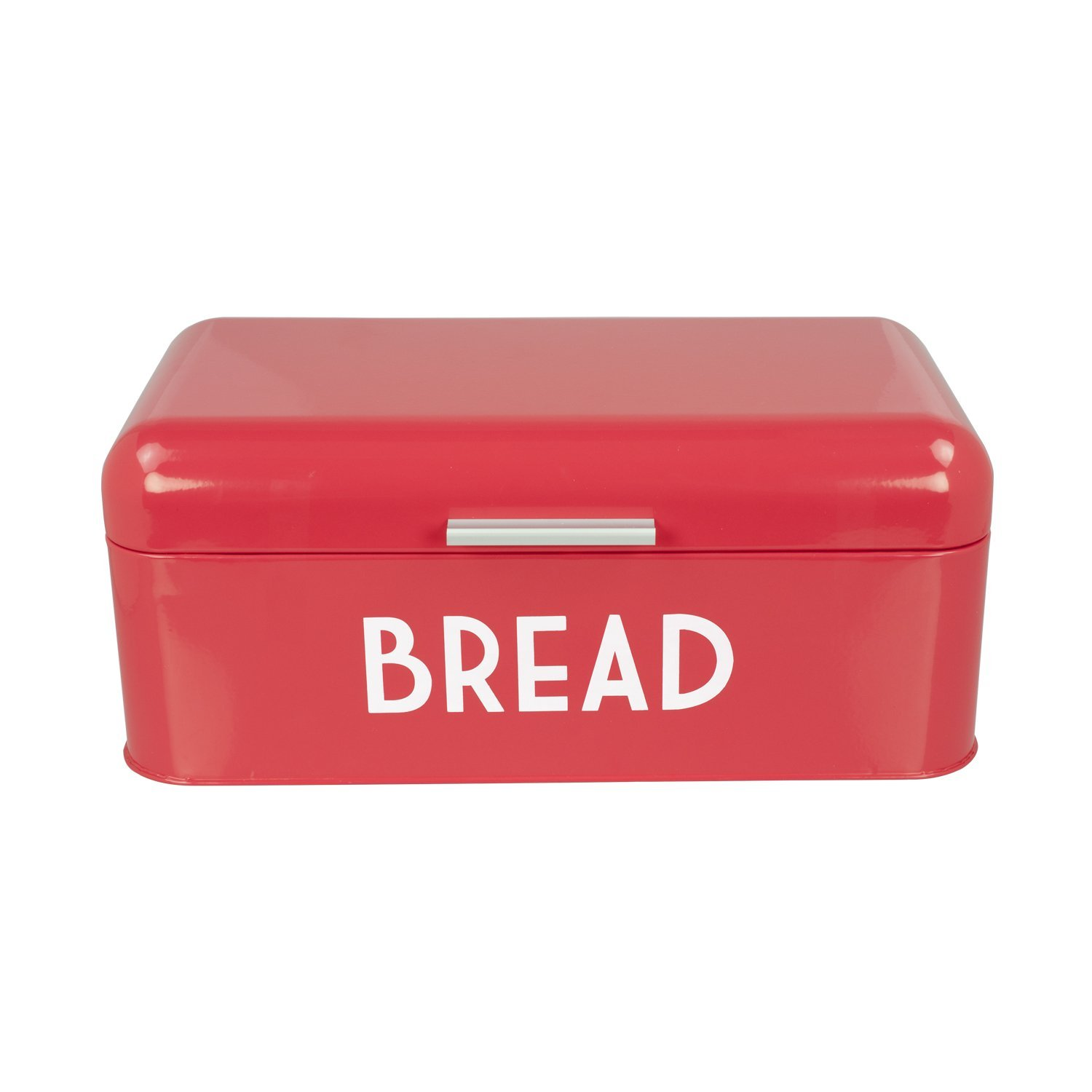 Brand New  BB44455 Metal Bread Box with Lid Red, High-quality