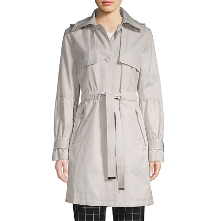 Classic Cotton Blend Trench Coat Anne Klein Womens Trench Coat